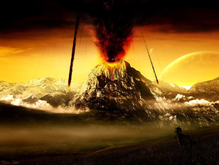 Wallpapers Digital Art Nature - Landscapes Volcan