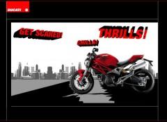Fonds d'écran Motos Ducati monster