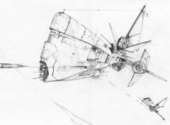 Fonds d'écran Art - Crayon corvette A-9