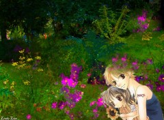 Fonds d'écran Manga Love Baby in the garden