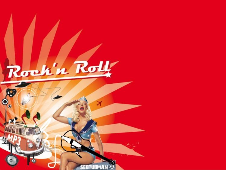 Fonds d'écran Musique Christina Aguilera Candyman rock'n roll