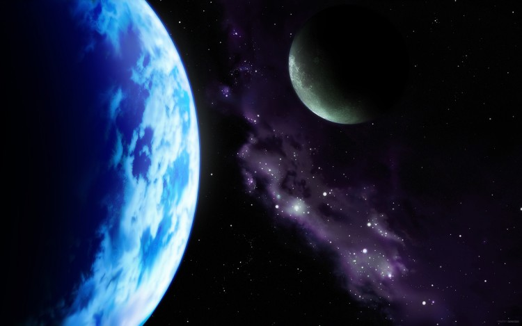 Fonds d'écran Art - Numérique Espace - Univers en orbite