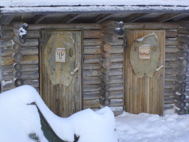 Wallpapers Humor Miscellaneous Toilettes en Laponie