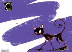 Fonds d'écran Art - Peinture Black Cat Remember