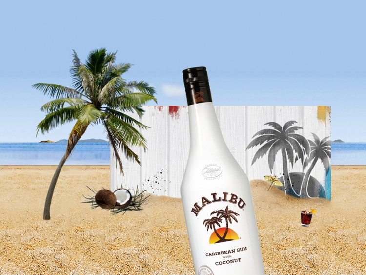 Wallpapers Objects Beverages - Alcohol MALIBU RUM
