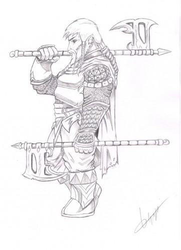 Wallpapers Art - Pencil Fantasy - Warriors guerrier2