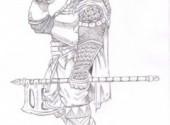Fonds d'écran Art - Crayon guerrier2