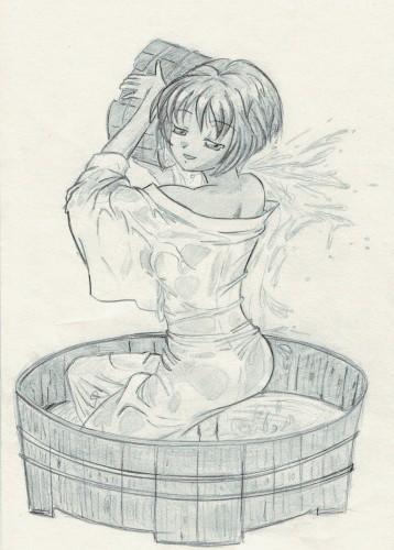 Fonds d'écran Art - Crayon Manga - Ai Yori Aoshi aoi bain
