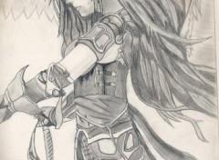Fonds d'écran Art - Crayon angelic dragongirl