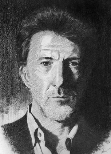 Fonds d'écran Art - Crayon Portraits Dustin Hoffmann