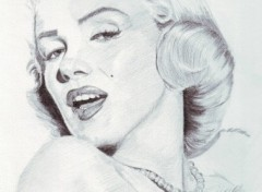 Fonds d'écran Art - Crayon Marylin