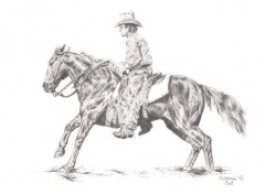 Wallpapers Art - Pencil Quarter Horse