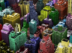 Wallpapers Constructions and architecture Manhattan en couleurs