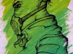 Fonds d'écran Art - Crayon Persos masque light