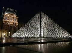Fonds d'écran Voyages : Europe Louvre Nocturne