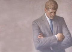 Wallpapers Art - Painting John F. Kennedy