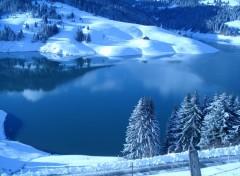 Wallpapers Nature paysage hiver en montagne