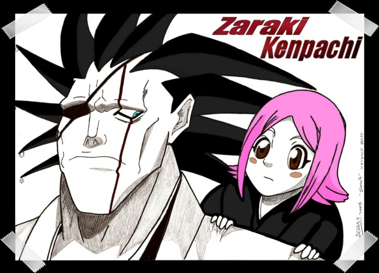 Wallpapers Art - Pencil Manga - Zaraki Kenpachi Zaraki Kenpachi