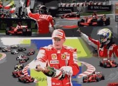 Fonds d'écran Sports - Loisirs Scuderia Ferrari - Barcelone 2008