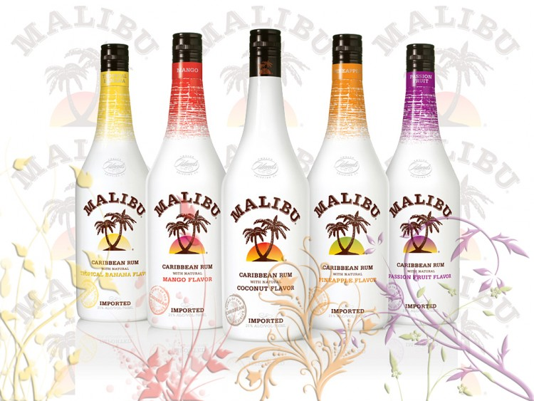 Wallpapers Objects Beverages - Alcohol MALIBU IMPORT (5 PARFUMS)