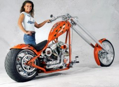 Fonds d'écran Motos Custom 300'' Pro-Street Chopper