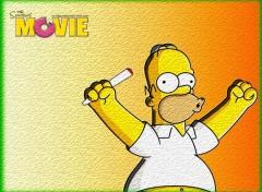 Fonds d'écran Cinéma Homer cigarette