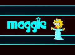 Fonds d'écran Dessins Animés Maggie simpson