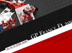 Fonds d'écran Sports - Loisirs Scuderia Ferrari - Magny-Cours 2008