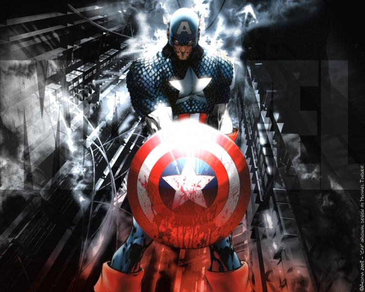 Fonds d'écran Comics et BDs Civil War CIVIL WAR: Captain America maximum charged