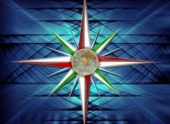 Fonds d'écran Art - Numérique Rose des vents