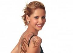 Fonds d'écran Célébrités Femme sarah tatoo