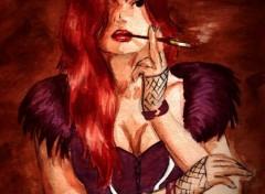 Fonds d'écran Art - Peinture Femme Fatale