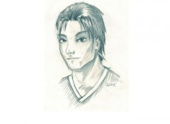 Fonds d'écran Art - Crayon Jeune homme