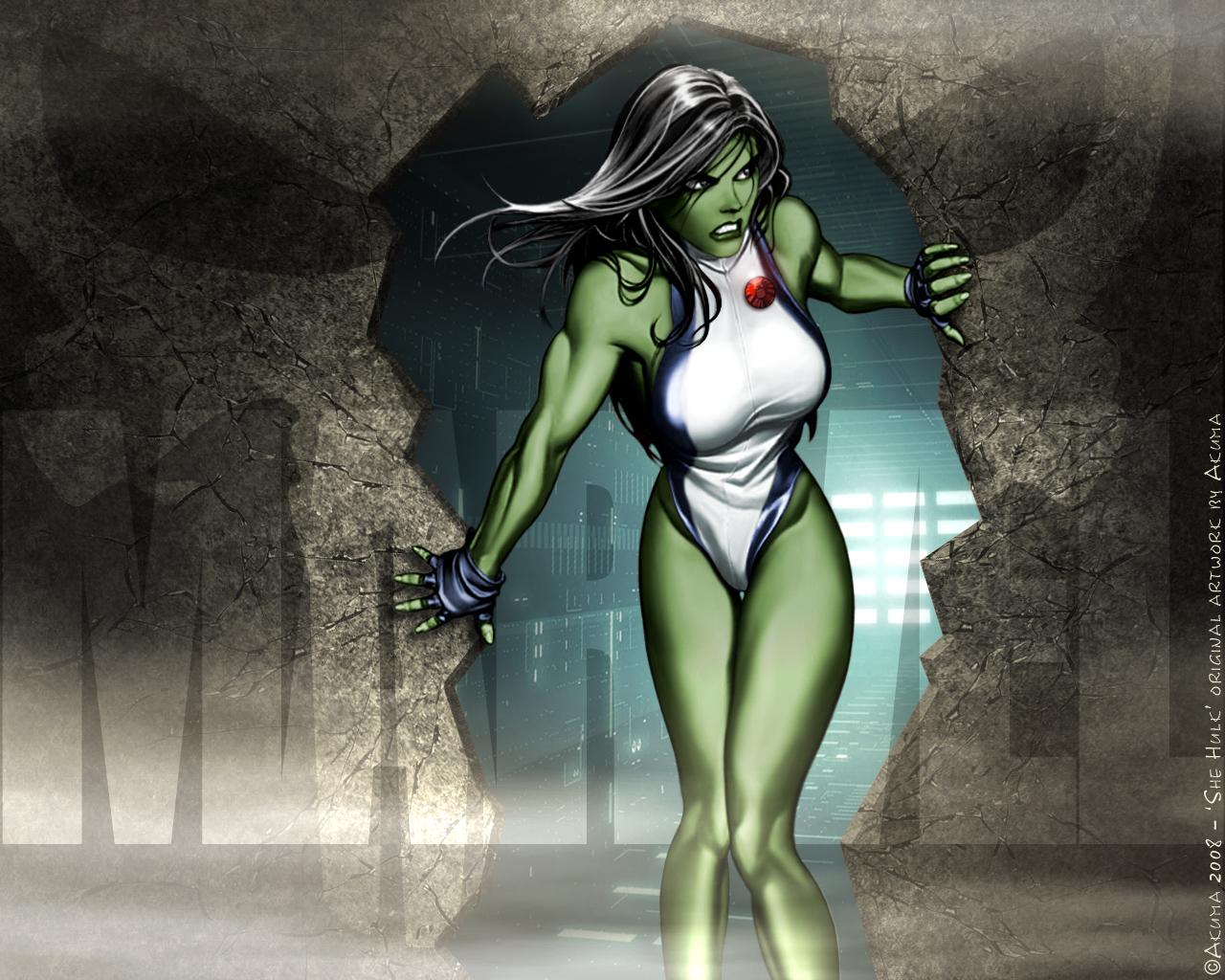 Wallpapers Comics Civil War CIVIL WAR: Miss Hulk in Search & Destroy mode