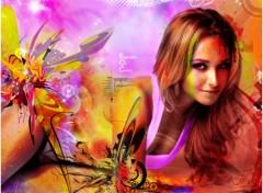 Fonds d'écran Célébrités Femme Explosion Of Colors