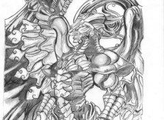 Fonds d'écran Art - Crayon bahamut