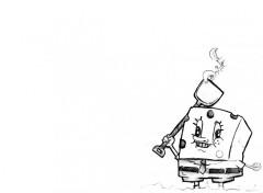 Wallpapers Cartoons Bob the Spong vu par moi même