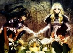 Fonds d'écran Manga Melange wall