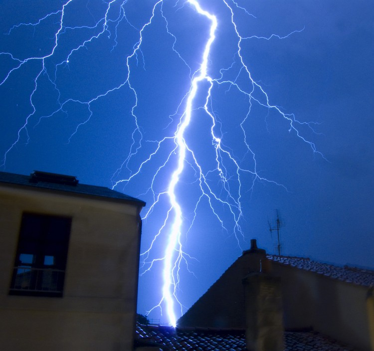 Wallpapers Nature Lightning Orage sur Poitiers