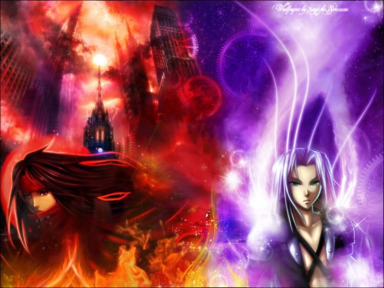 Wallpapers Video Games Final Fantasy VII Vincent VS Sephiroth