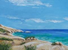 Fonds d'écran Art - Peinture marine sauvage