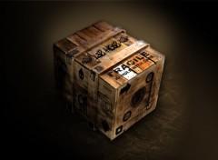 Dessins et Art Art - Numérique caisse en bois