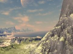Wallpapers Digital Art De la terre a la lune