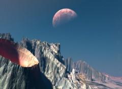Fonds d'écran Art - Numérique terre lune 2