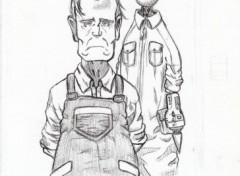 Fonds d'écran Art - Crayon Gunnm - Last Order