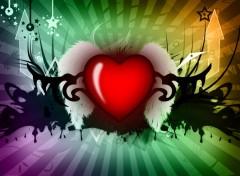 Fonds d'écran Art - Numérique Heart abstract v2