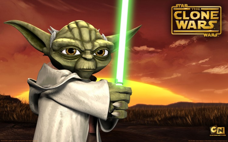 Fonds d'écran Dessins Animés Star Wars : the Clone Wars Yoda