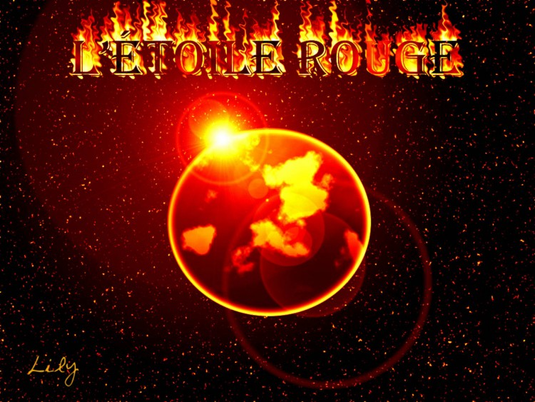 Fonds d'écran Art - Numérique Espace - Univers L'étoile rouge
