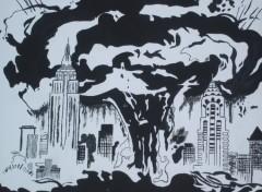 Fonds d'écran Art - Peinture explosion de new-york