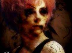 Fonds d'écran Fantasy et Science Fiction Mylène Farmer en zombie pour Halloween 2